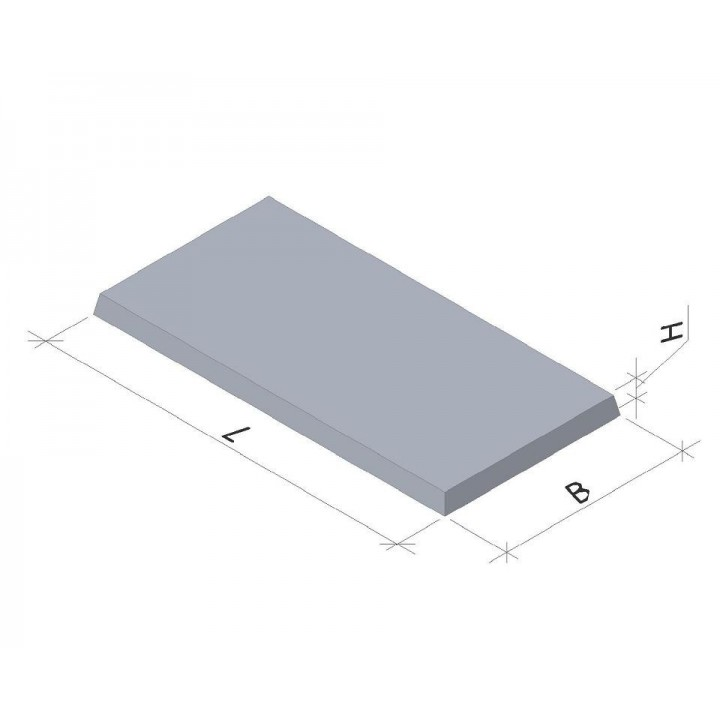 Плита тротуарная 6П5 (1Х0,5 м)