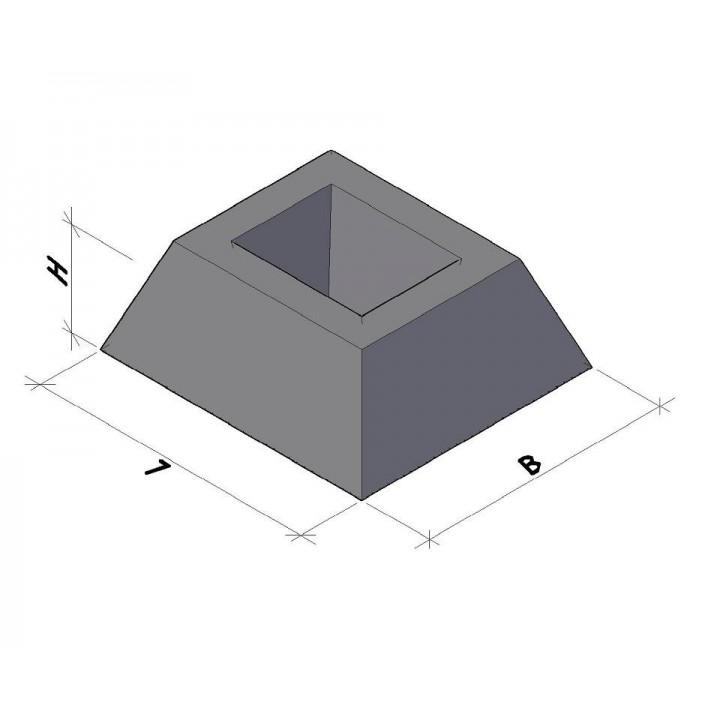 Фундамент панелей ограды ФЗП 1-1