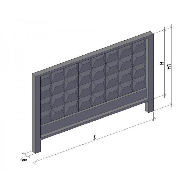 Плита ограды 3П 400.8